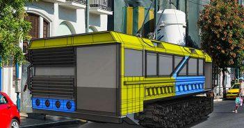 Το τρόλει Τ-1000 έχει κατασκευαστεί για μετακινήσεις σε περίπτωση πυρηνικού πολέμου ή επιθέσεις ζόμπι