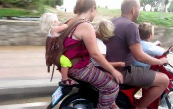 Κλινικά ηλίθιοι όσοι βάζουν τα παιδιά τους σε μηχανάκι χωρίς κράνος, σύμφωνα με νέα έρευνα