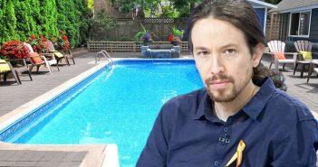 Δημοσιογράφο για να δείξει την υγρασία στην καινούργια του πισίνα κάλεσε ο Πάμπλο Ιγκλέσιας