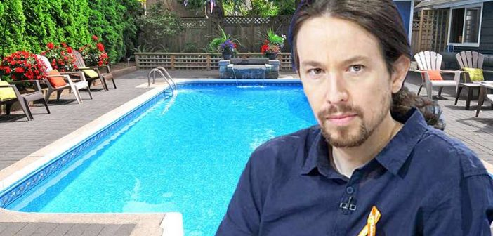 Δημοσιογραφικό συνεργείο για να δείξει την υγρασία στην καινούργια του πισίνα κάλεσε ο Πάμπλο Ιγκλέσιας