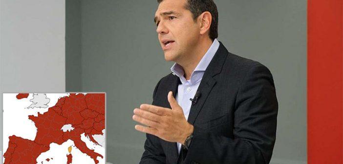 Ραγδαία αύξηση κρουσμάτων στην Ευρώπη, πιθανόν να πρέπει να αναλάβει την αντιπολίτευση και άλλων χωρών ο Αλέξης Τσίπρας